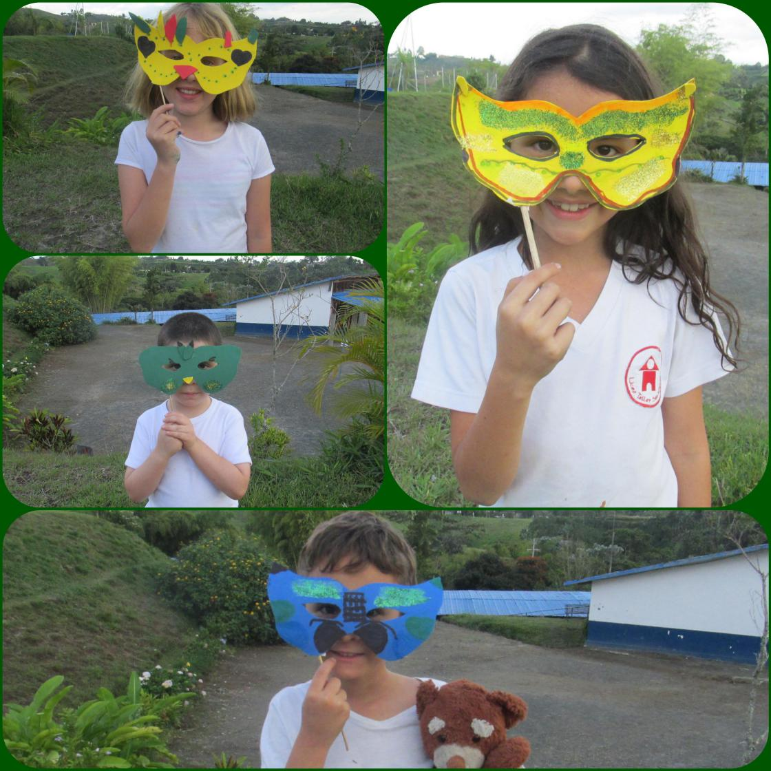 Crafting Bird Masks at Liceo Taller San Miguel